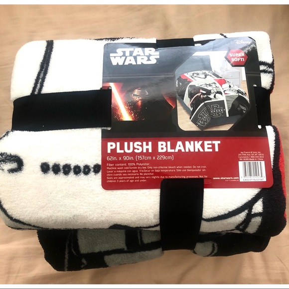 New! Star Wars Kylo Ren Plush Blanket